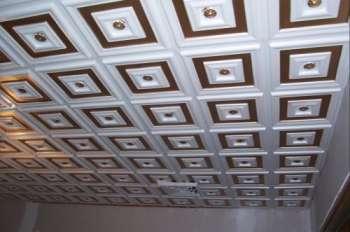 Полистирольные плитки - реаниматоры бетонного потолка