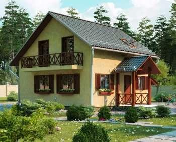 Дом, построенный из ЛСТК