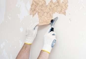 Подготовка стен. Удаление старых обоев