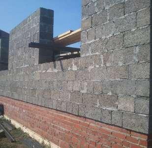 Строительство стены из арболитовых блоков